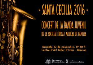 Cartell del concert de la Banda Juvenil 2016